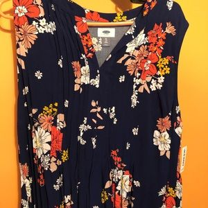 Flowered sleeveless dress from old navy